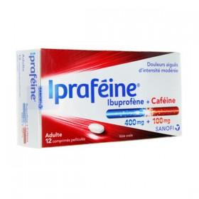 Ipraféine - ibuprofène 400 mg + caféine 100 mg...