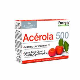 Acerola 500 Vitamin C - energy & anti-fatigue -...