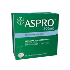 Aspro 500mg - 36 effervescents tablets - BAYER