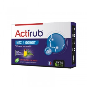 ACTIRUB nose and throat 15 tablets SANTE VERTE