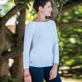 T-shirt blanc 100% coton peigné Senovie