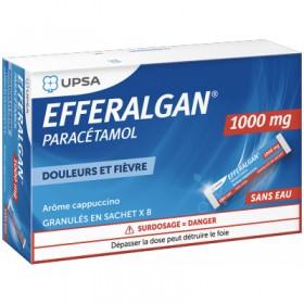Efferalgan 1000mg - 8 sachets - UPSA