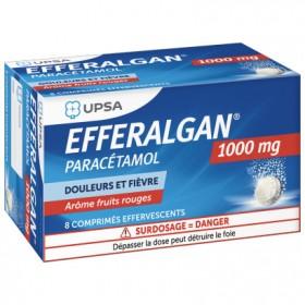 Efferalgan 1000mg - 8 comprimés effervescents -...