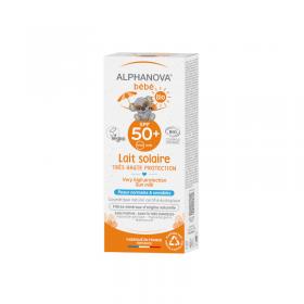Spécial bébé lait solaire bio SPF50+ ALPHANOVA